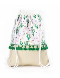 Plecak worek dla dorosłych Lama z frędzelkami