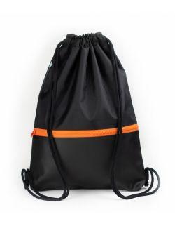 Plecak worek dla dorosłych Czarny z zamkiem