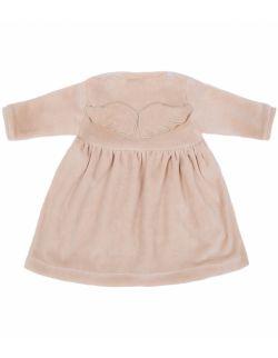 welurowa sukienka wings beige