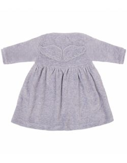 welurowa sukienka wings grey