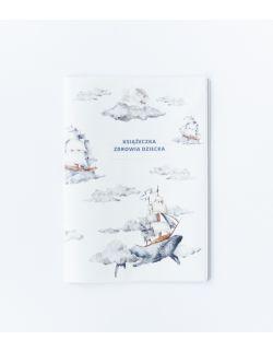 Etui na książeczkę zdrowia z Wielorybem