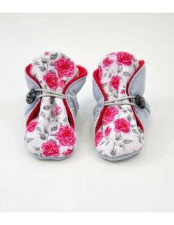 Miękkie buciki niemowlęce Róże