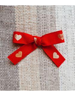 Kokardka valentines red