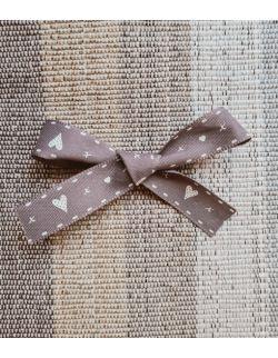 Kokardka valentines gray