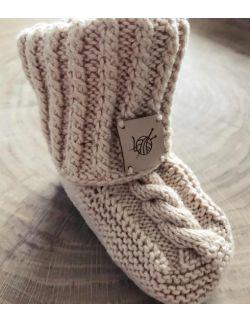 Handmade buciki antypoślizgowe wełniane papcie dla dziecka