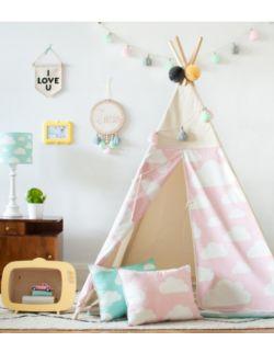 Namiot Tipi Chmurki Pink
