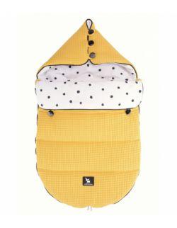 Wielofunkcyjny śpiworek do wózka i fotelika Pooh bawełniane premium 0-6 mcy - BURSZTYNOWY