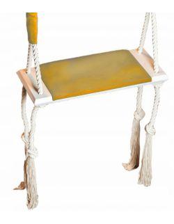 huśtawka do pokoju domowa żółta