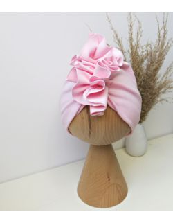 Turban baby pink | prążkowany | Supersoft