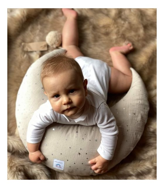 Muślinowa poduszka do karmienia - piaskowy w kropki