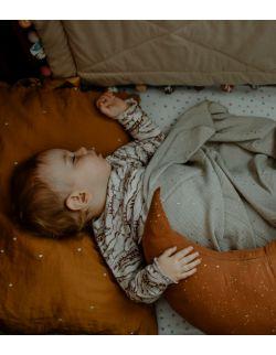 Muślinowa poduszka do karmienia - korzenny w kropki