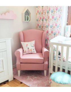Fotel Uszak Do Karmienia - Różowy