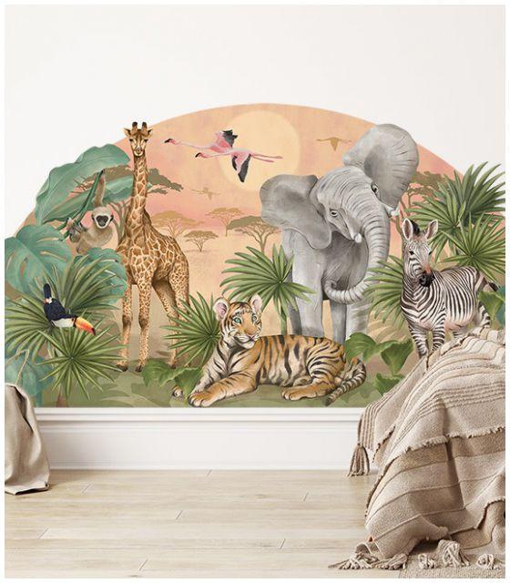 Naklejka ścienna Safari - Pastelowe Love