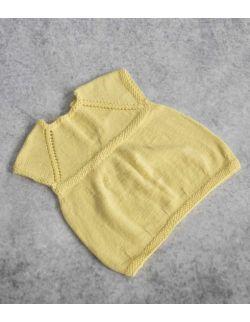 Handmade Lou wełniana żółta sukienka dla dziewczynki wiosna/lato