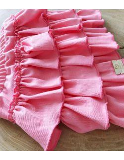 różowa spódniczka z falbankami dla dziewczynki Polo Pink
