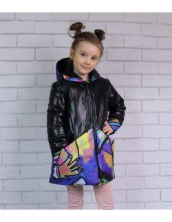 Kurtka dla dziewczynki - Kolorowa Abstrakcja