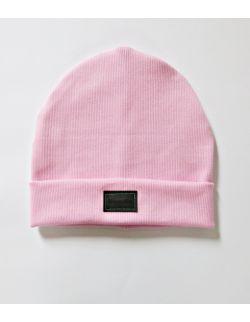 Czapka prążkowana | baby pink