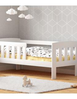 Łóżko dziecięce Maja w kolorze białym -140 cm