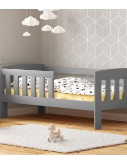 Łóżko dziecięce Maja w kolorze szarym -160 cm