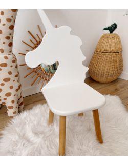 Krzesełko dziecięce - Jednorożec | Białe | OH Babe