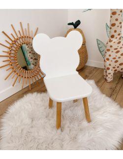 Krzesełko dziecięce - Misio | Białe | OH Babe