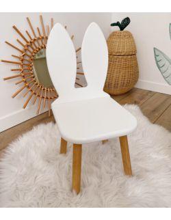 Krzesełko dziecięce - Królik | Białe | OH Babe