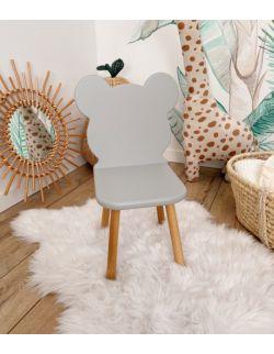 Krzesełko dziecięce - Misio | Szare | OH Babe
