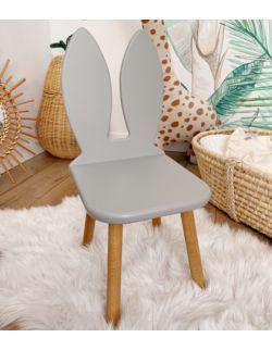 Krzesełko dziecięce - Królik | Szare | OH Babe