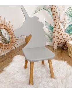 Krzesełko dziecięce - Jednorożec | Szare | OH Babe