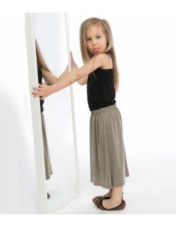 Spódnica Midi Freddo Cupro dla dziewczynki KIDS beż brąz turkus czarna