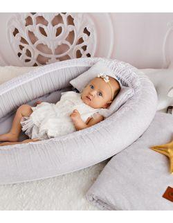 Kokon niemowlęcy szare wzorki