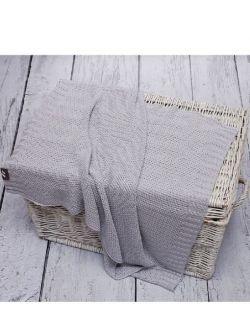 Bambusowy Kocyk dziany ryż Szary