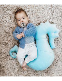 Poduszka do karmienia Konik morski Nepto - baby blue