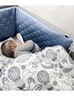 Ochraniacz do łóżeczka - denim