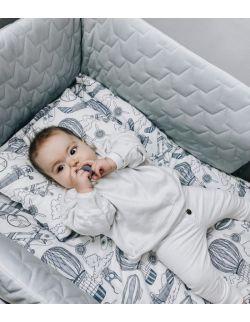 Ochraniacz do łóżeczka - szary