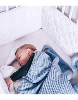 Ochraniacz do łóżeczka - ecru