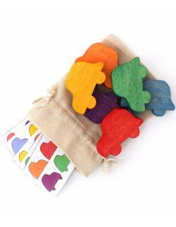Garbuski, układanka lewopółkulowa + karty pracy