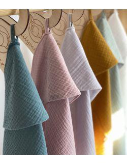 Ręcznik muślinowy - szmaragdowy