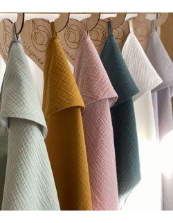 Ręcznik muślinowy - pistacjowy