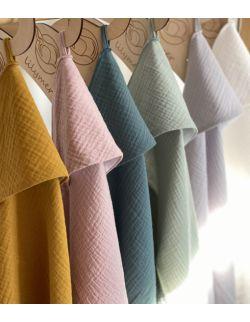 Ręcznik muślinowy - musztardowy