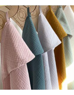 Ręcznik muślinowy - różowy
