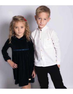 by royal baby biała lniana elegancka wizytowa koszula chłopięca