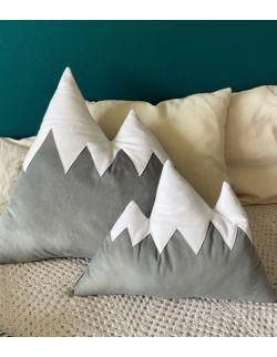 poduszka góry szary welur duża