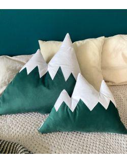 poduszka góry zielony welur mała