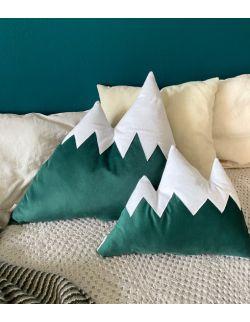 poduszka góry zielony welur duża