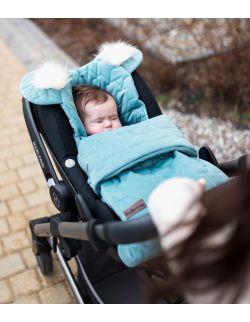 Śpiworek niemowlęcy Dream Catcher Leaves Ocean Green 6in1 80x45 cm