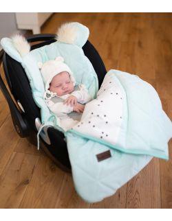 Śpiworek niemowlęcy Dream Catcher Triangles Aquamarine 6in1 80x45 cm
