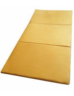 Materac gimnastyczny welurowy 180x100x5 żółty