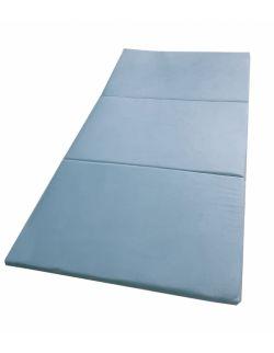 Materac gimnastyczny welurowy 180x100x5 niebieski