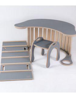 Zestaw architekta (bujak + drabinka + blat + taboret Good Wood)